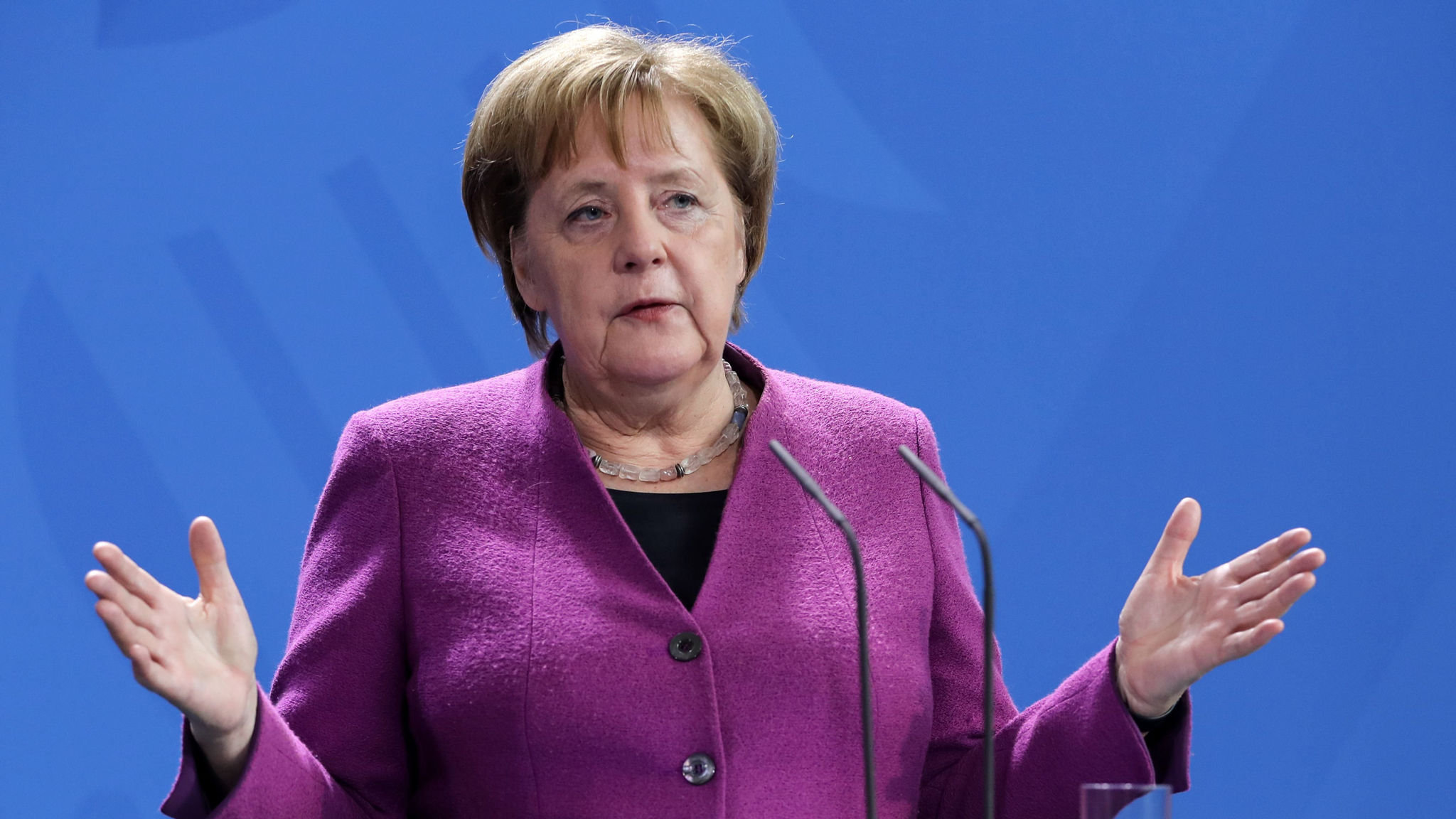 Angela Merkel urges EU to seize control of data from US tech titans