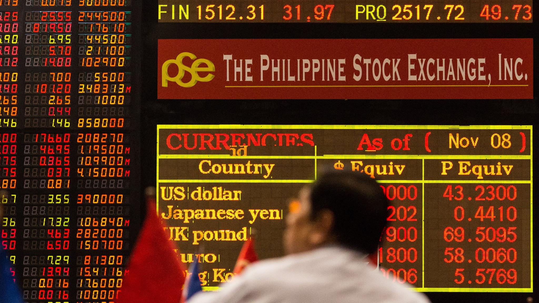 The Philippine Stock Exchange. Image: Financial Times