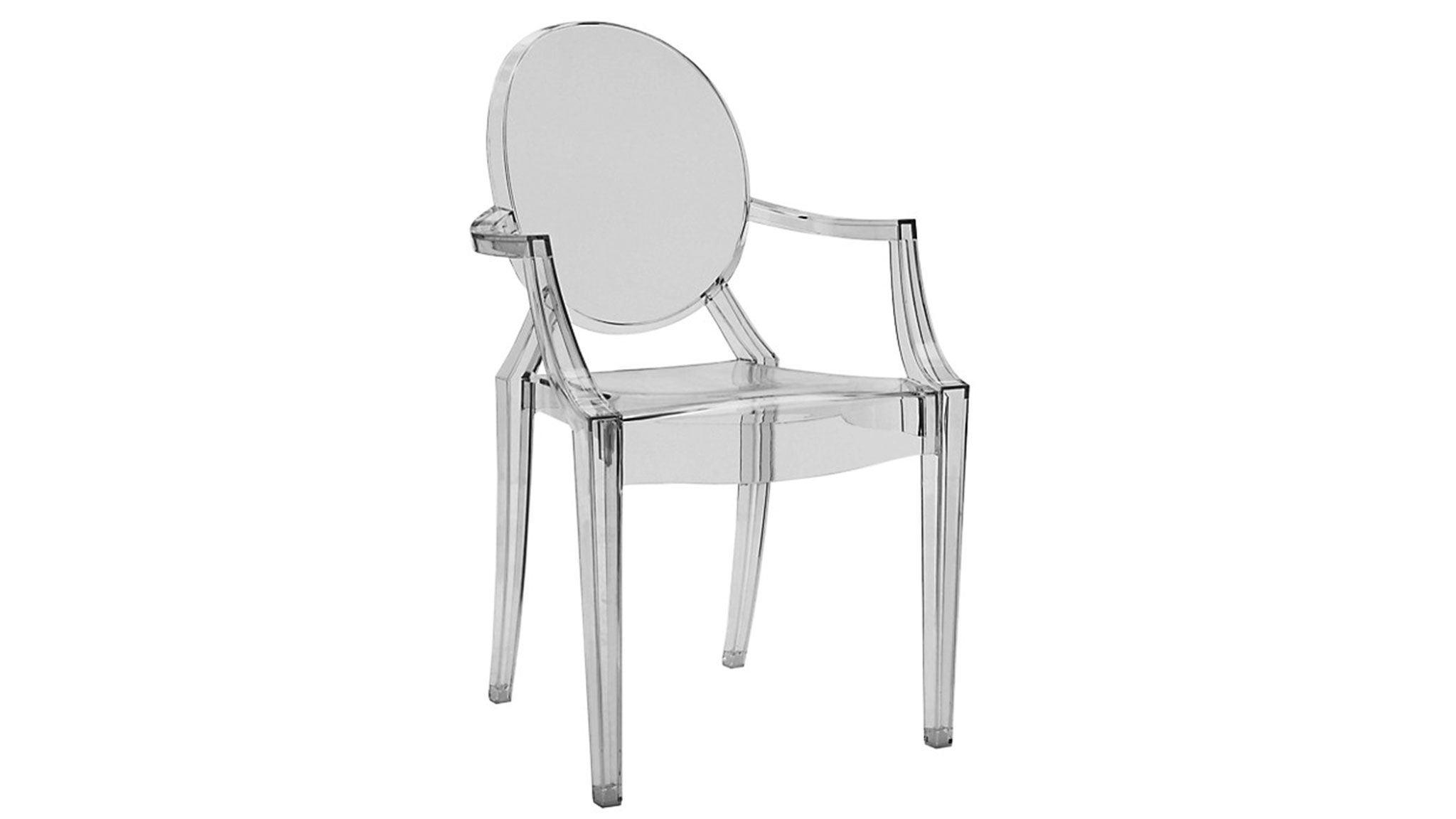 Design classic the Louis Ghost chair by Philippe Starck