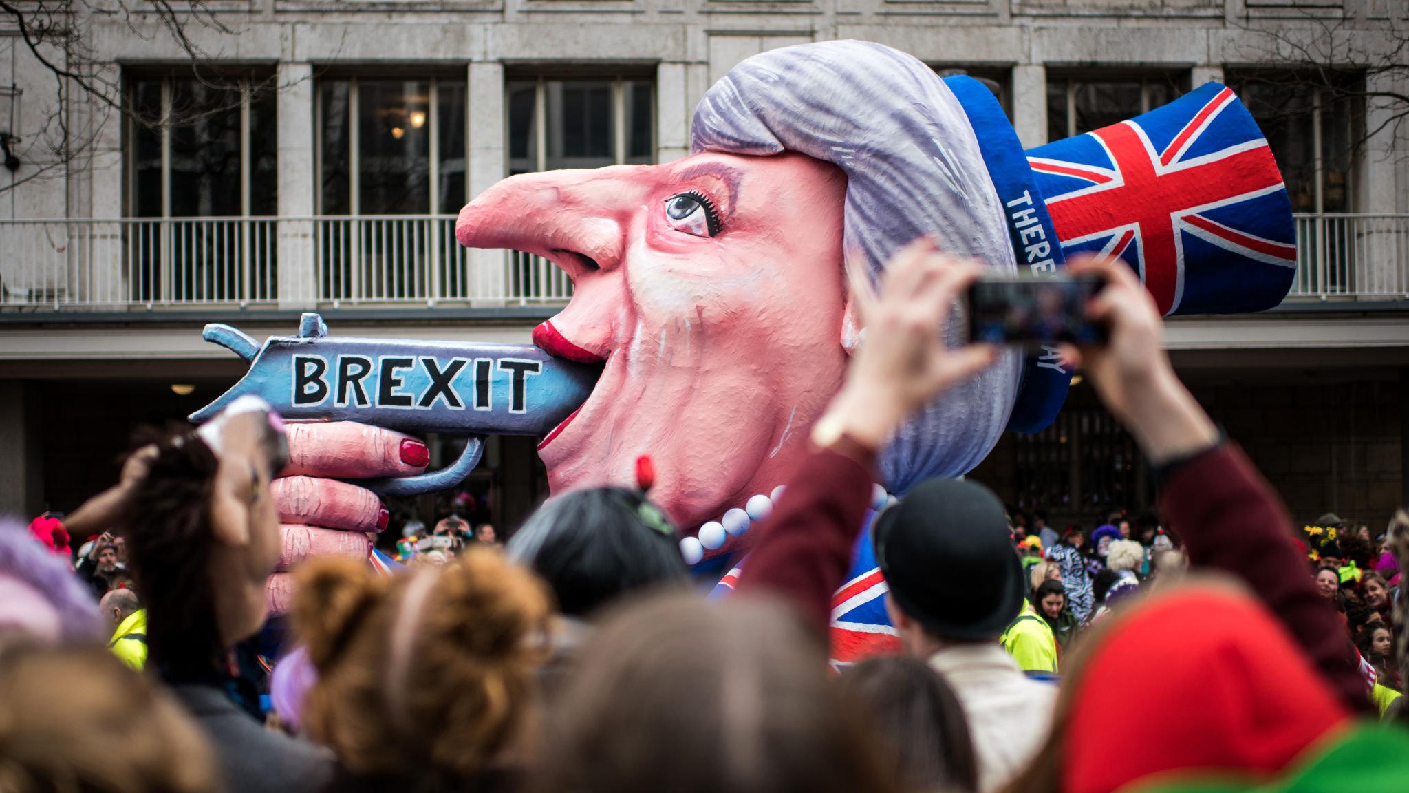 Brexit, Trump and Merkel skewered by carnival art maestro