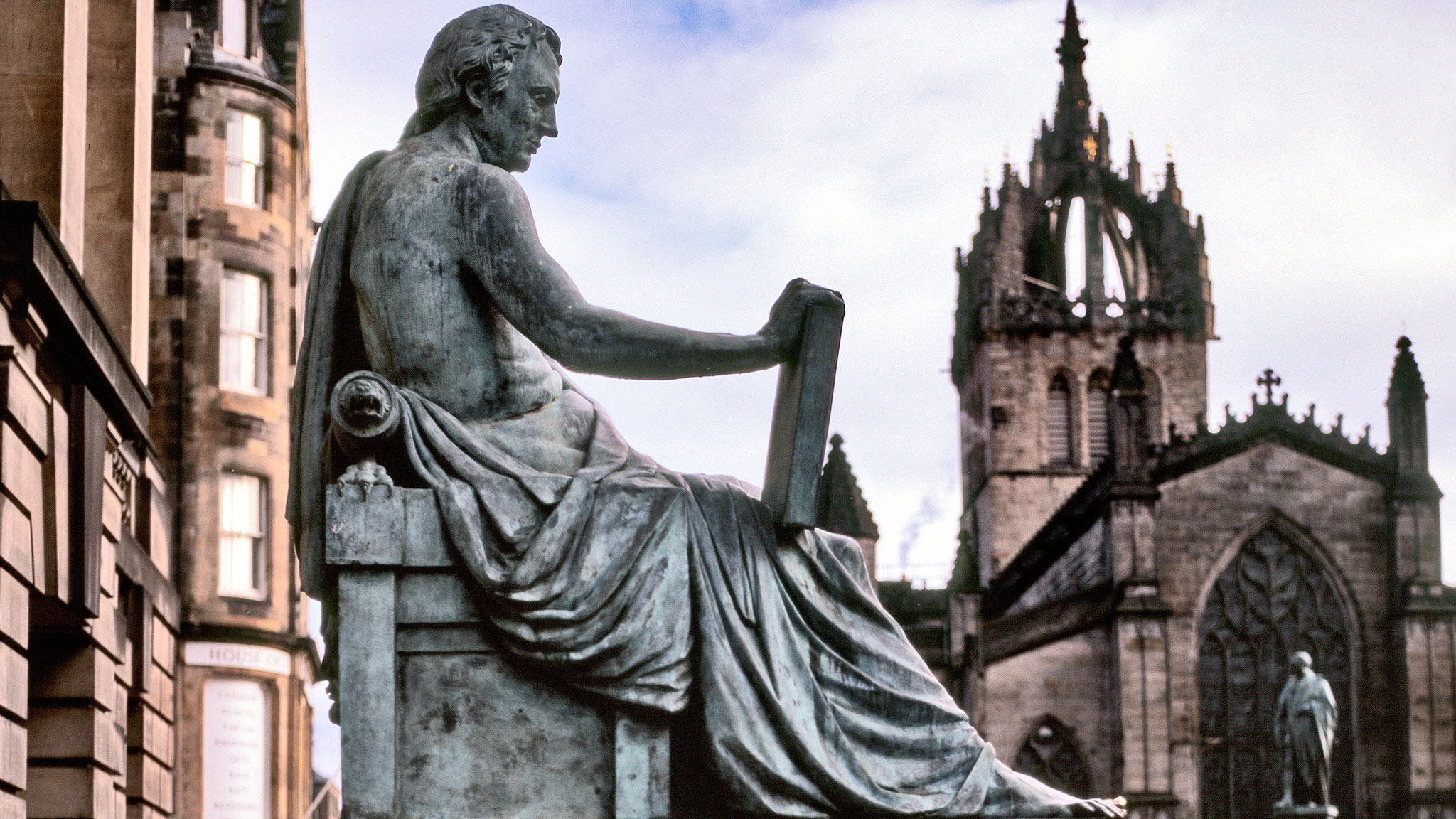 Edinburgh's statue of David Hume, the 18th-century philosopher © Kieran Dodds/Panos Pictures