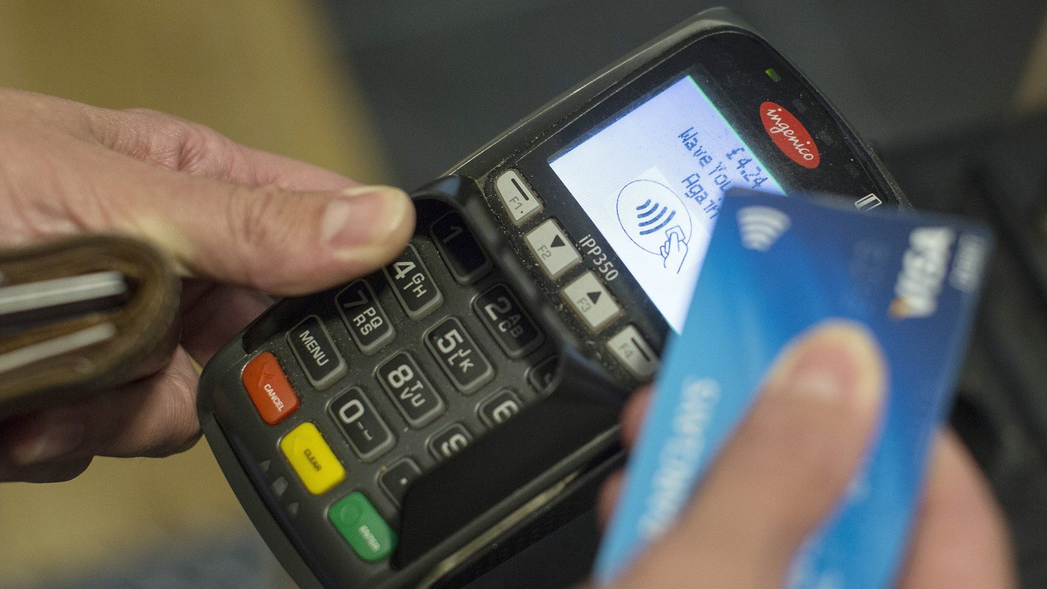 Shoppers are increasingly choosing to pay for goods using contactless  technology