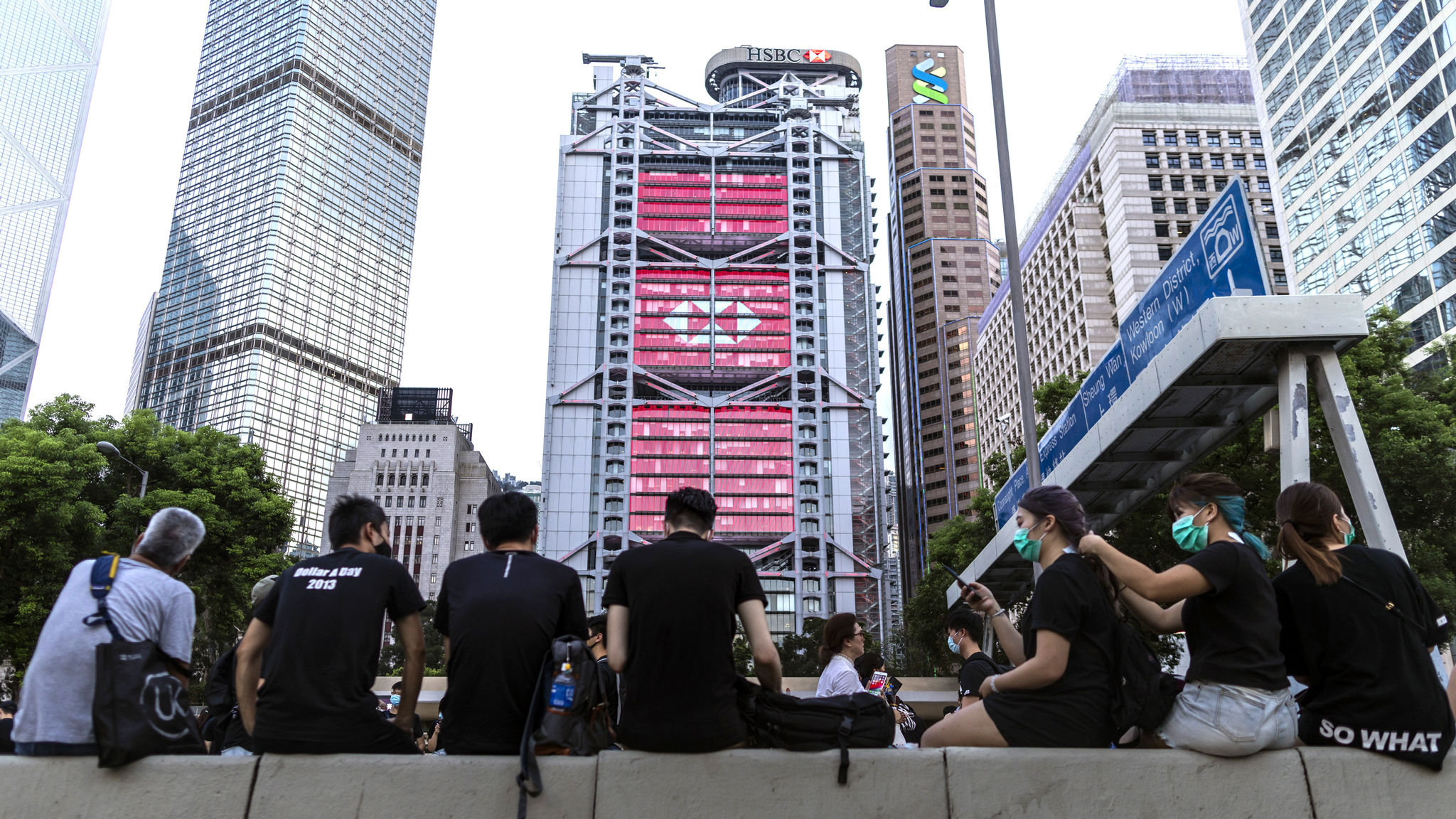 HSBC urges peaceful resolution to Hong Kong protests