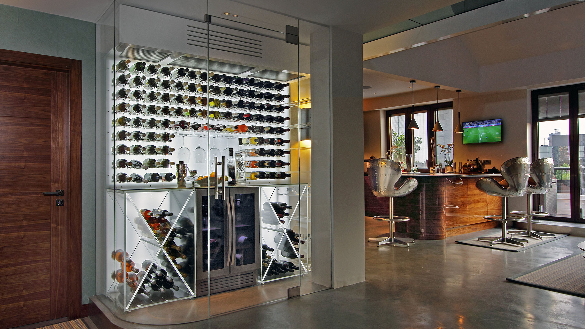 Wine cellars come out of the basement to become status symbols
