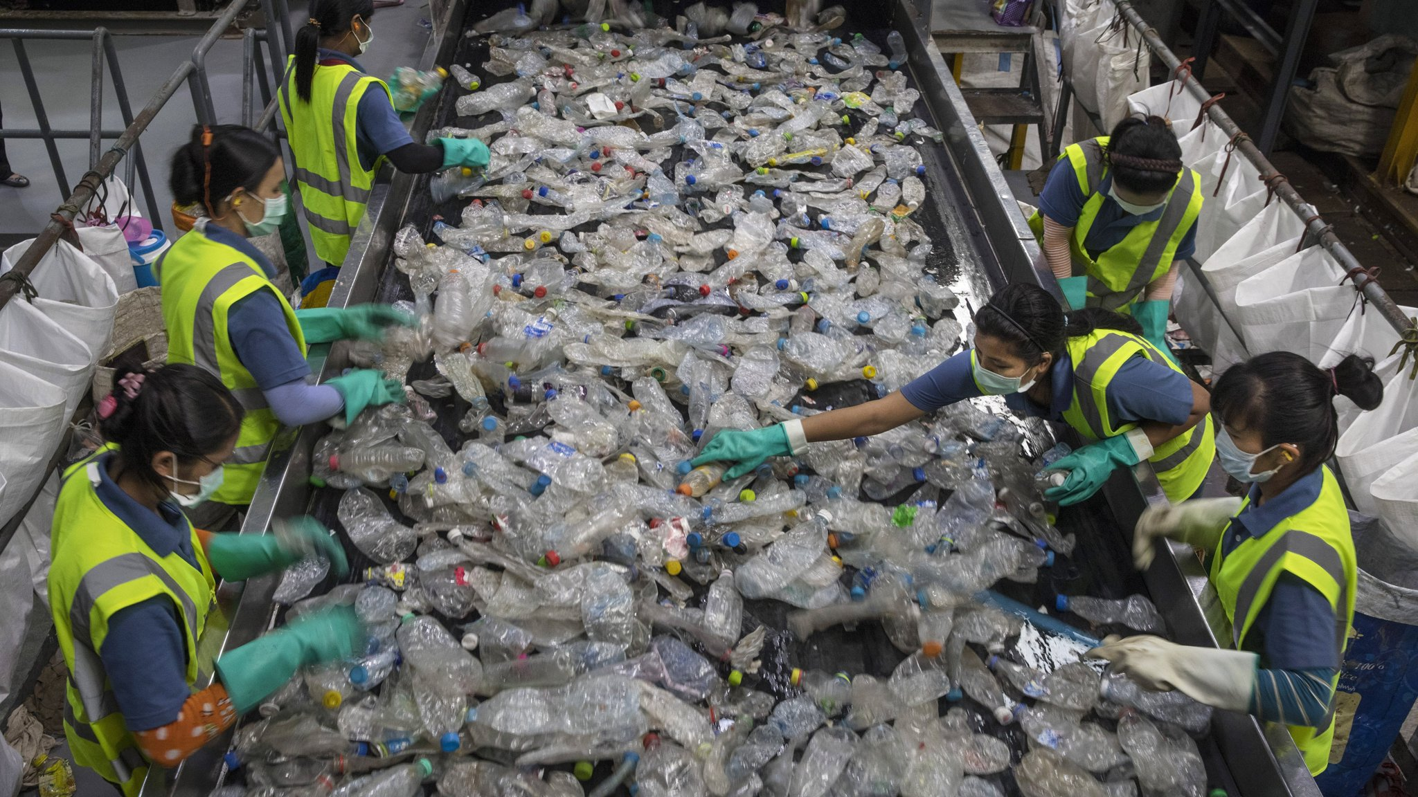 A plastics recycling plant in Thailand. The country's growing mountain of foreign waste has inflamed public opinion after a spate of pollution complaints from local communities. Image: Financial Times/Getty