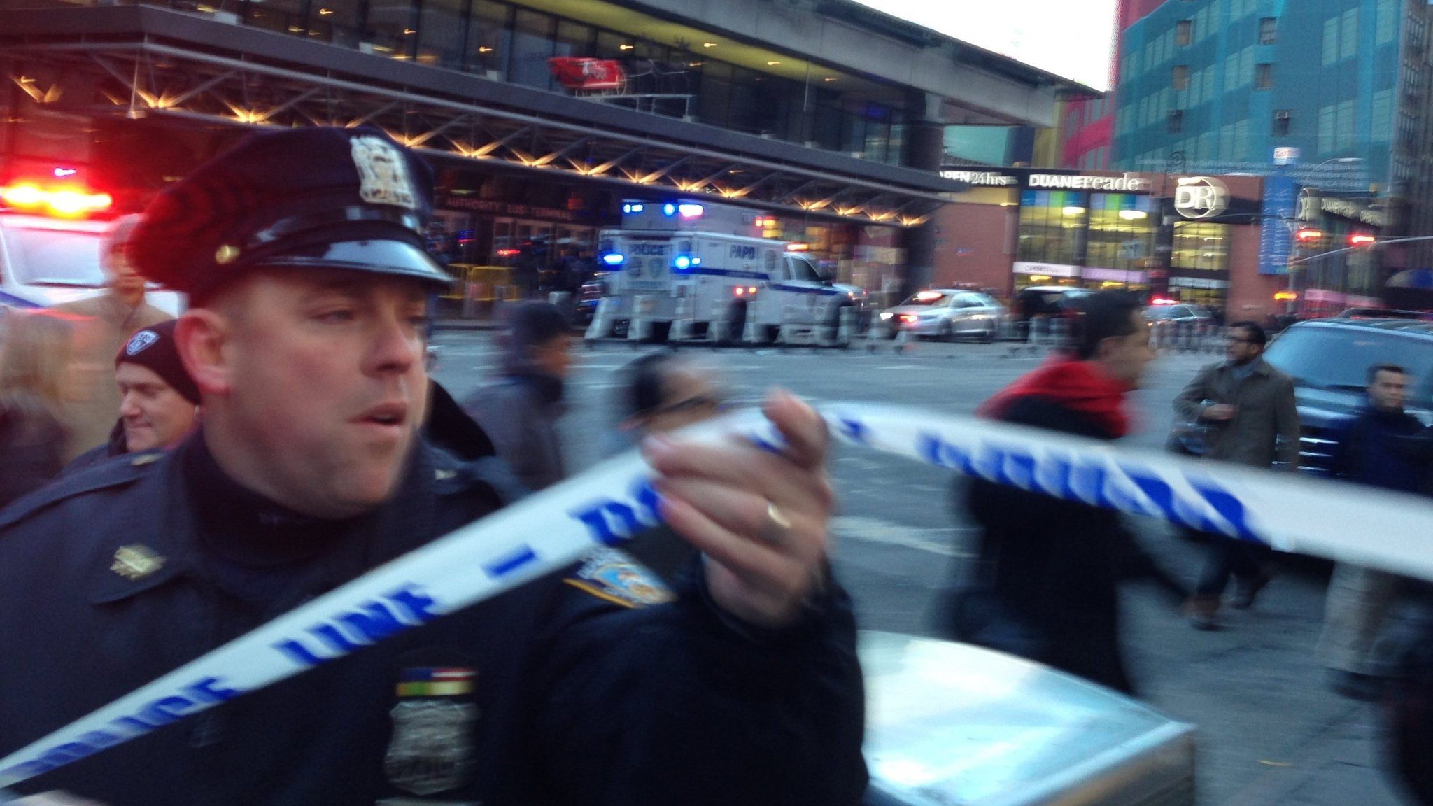 New York transport hub hit by explosion during rush hour
