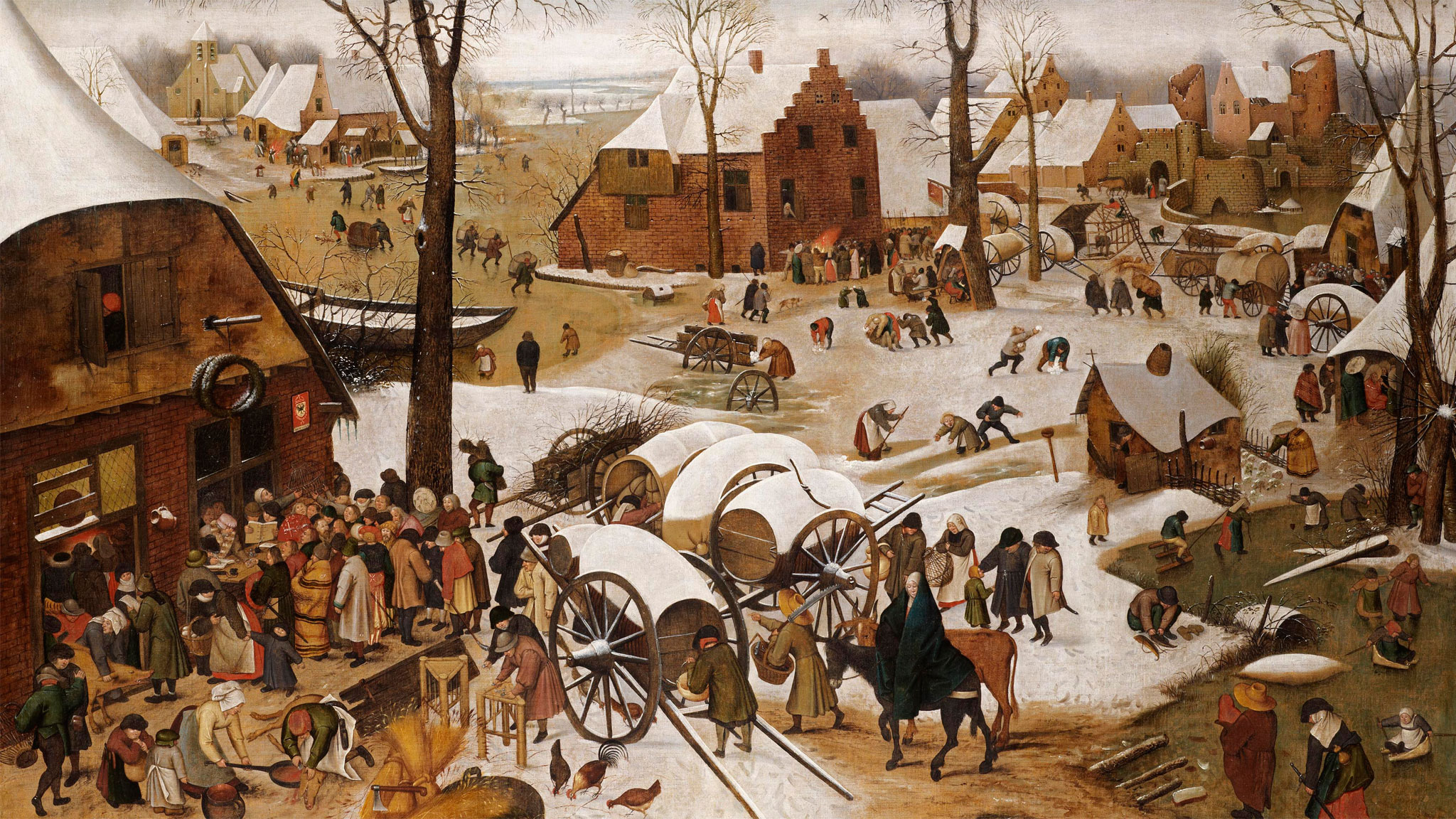 Image result for bruegel census at bethlehem