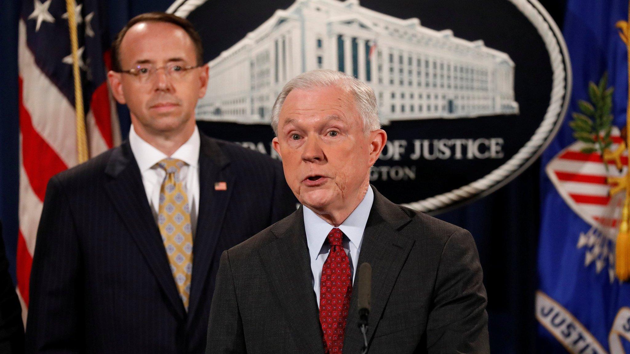US attorney-general vows to stay despite Trump attack