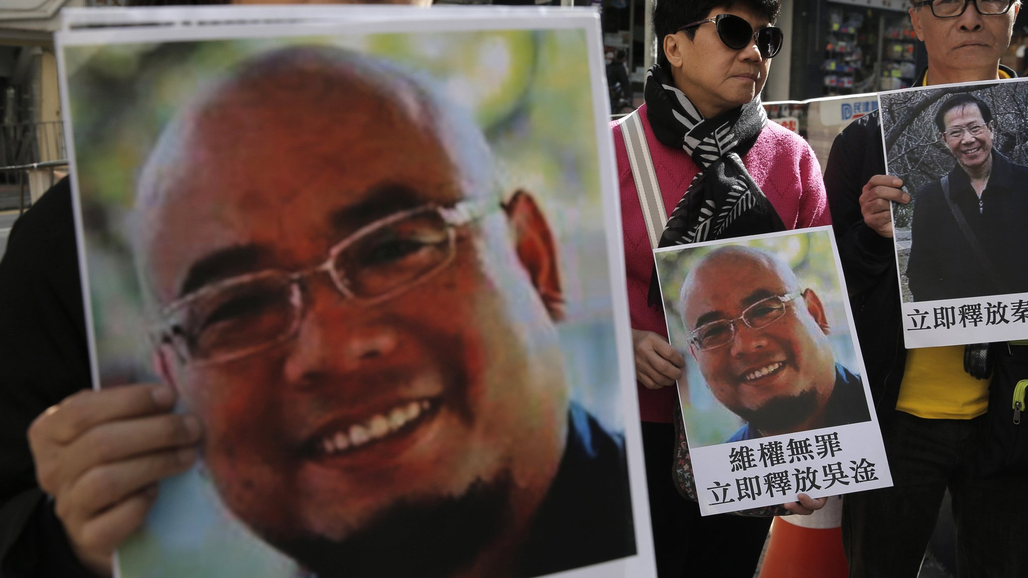 China rewards a non-violent activist with what he most wants