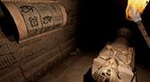 VR experience in an Egyptian tomb