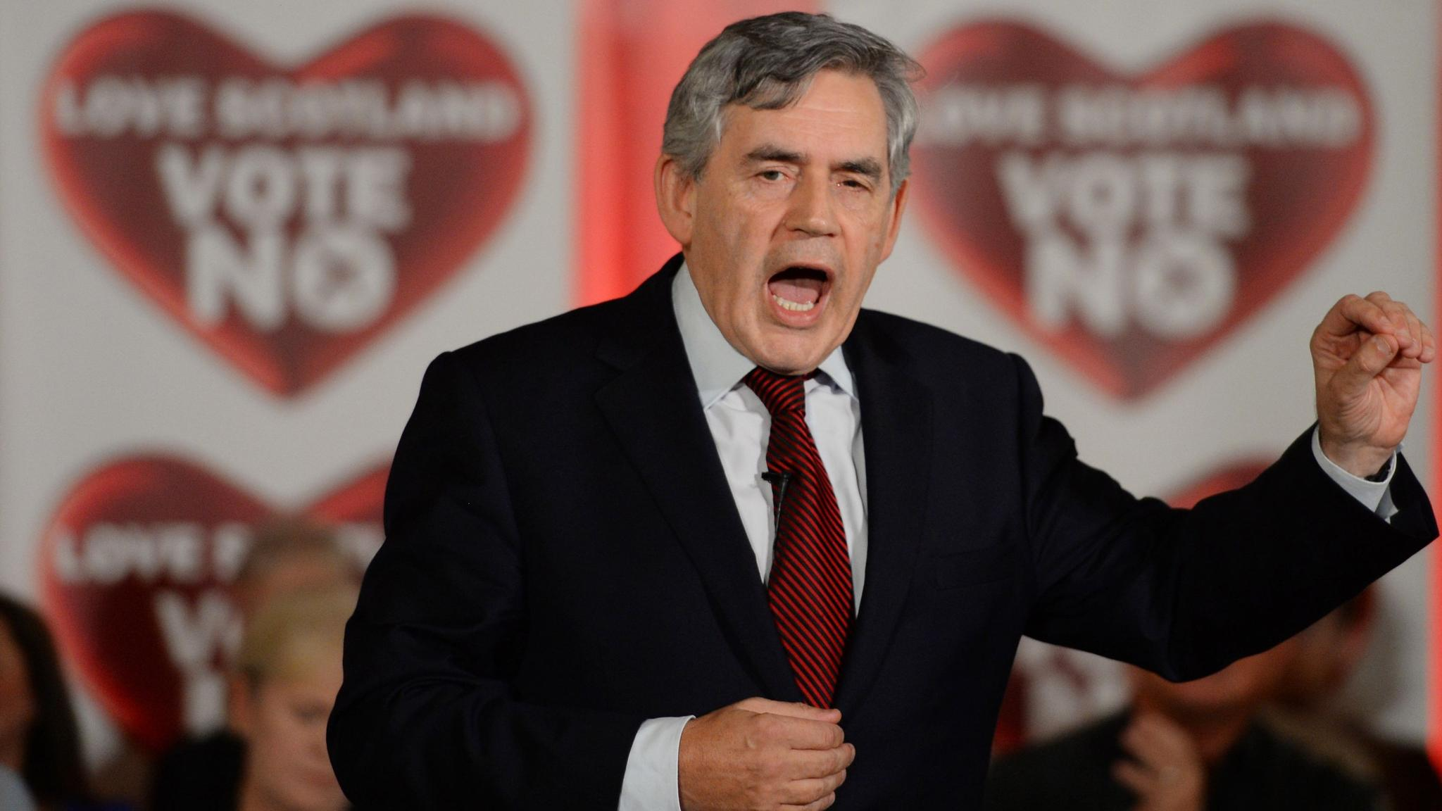 Gordon Brown makes final push in No campaign