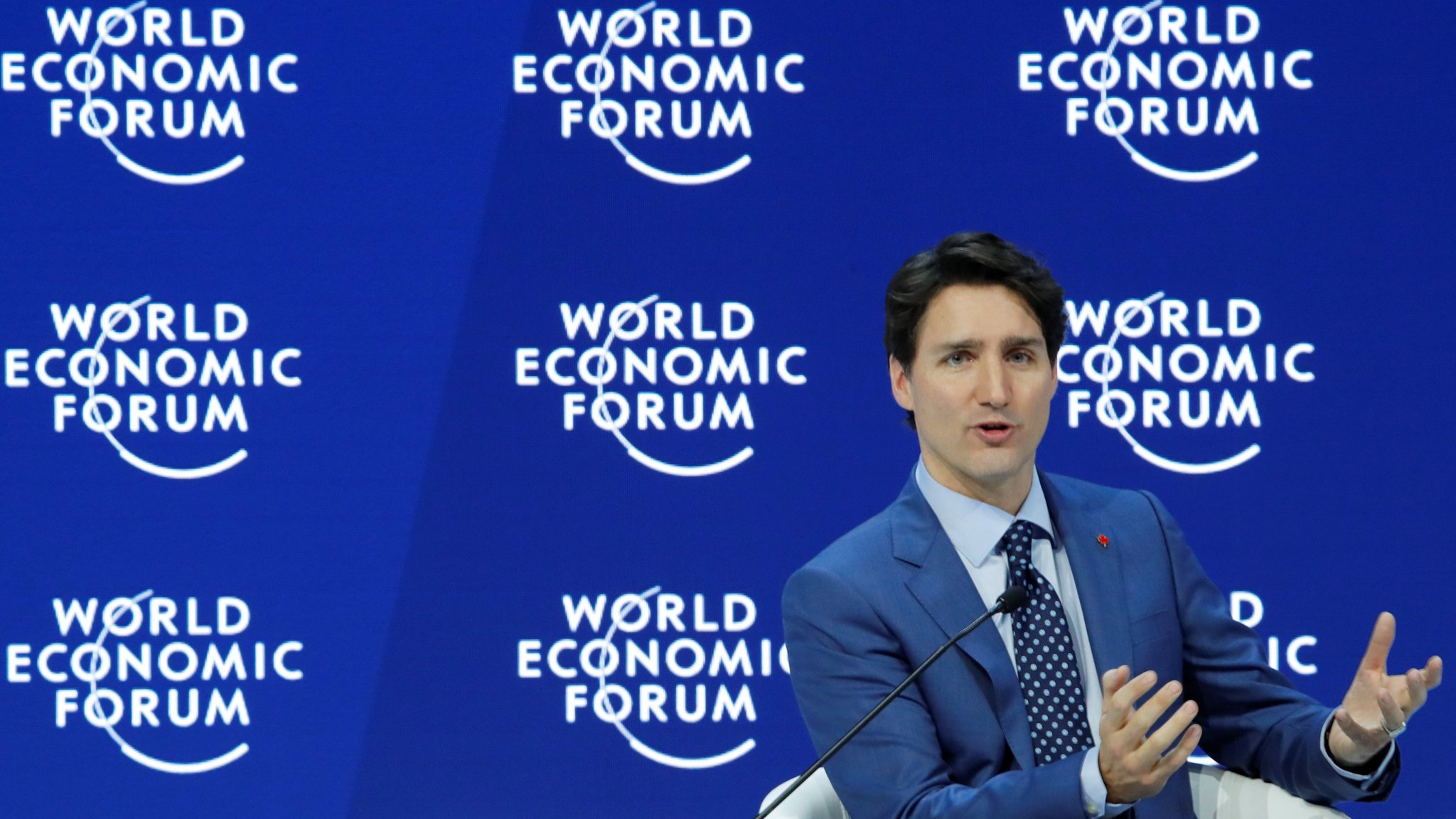 Trudeau tells Davos audience their approach 'won't cut it any more'