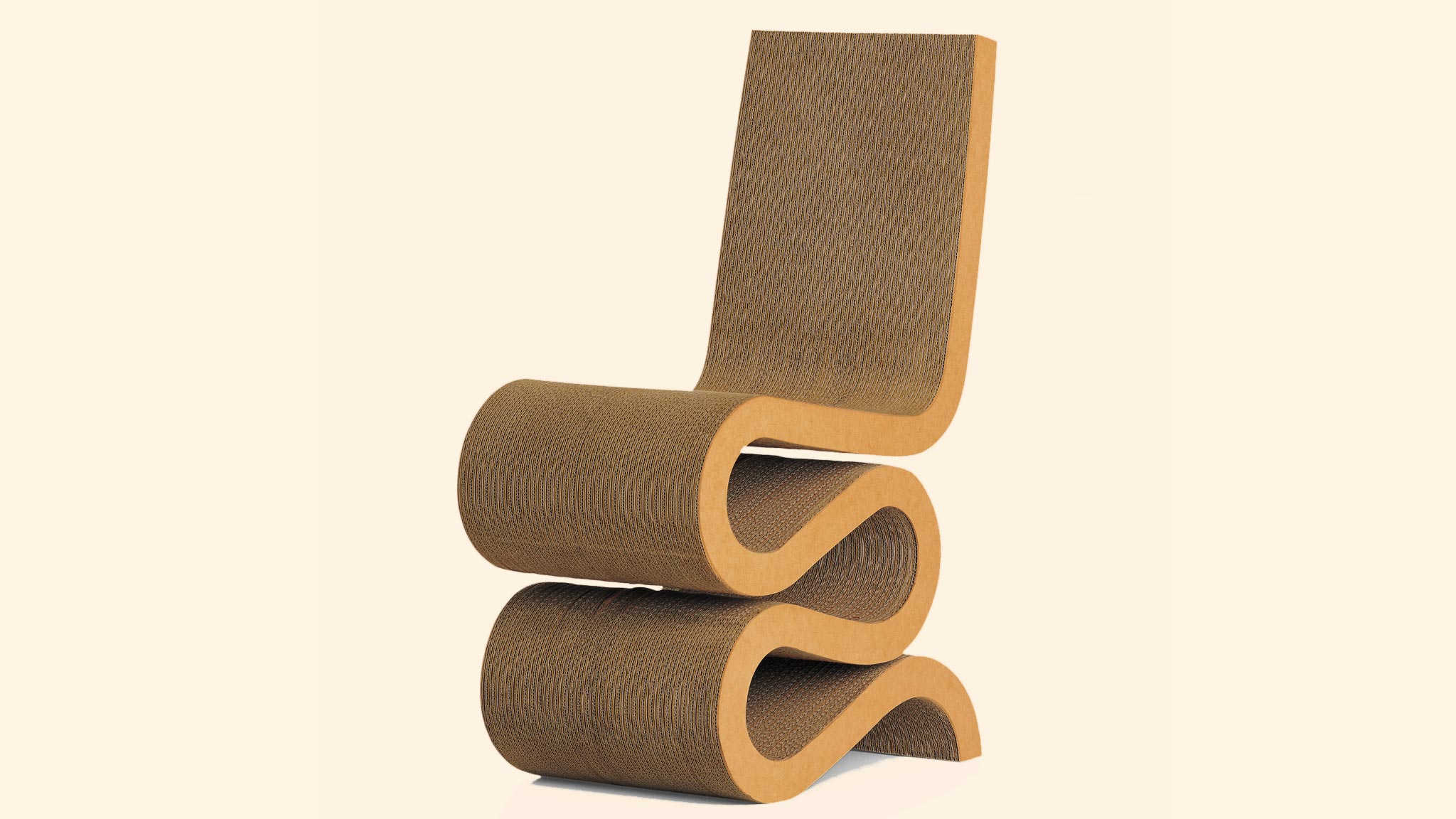 Corrugated Cardboard Furniture Design Classic Frank Gehrys Wiggle Side Chair