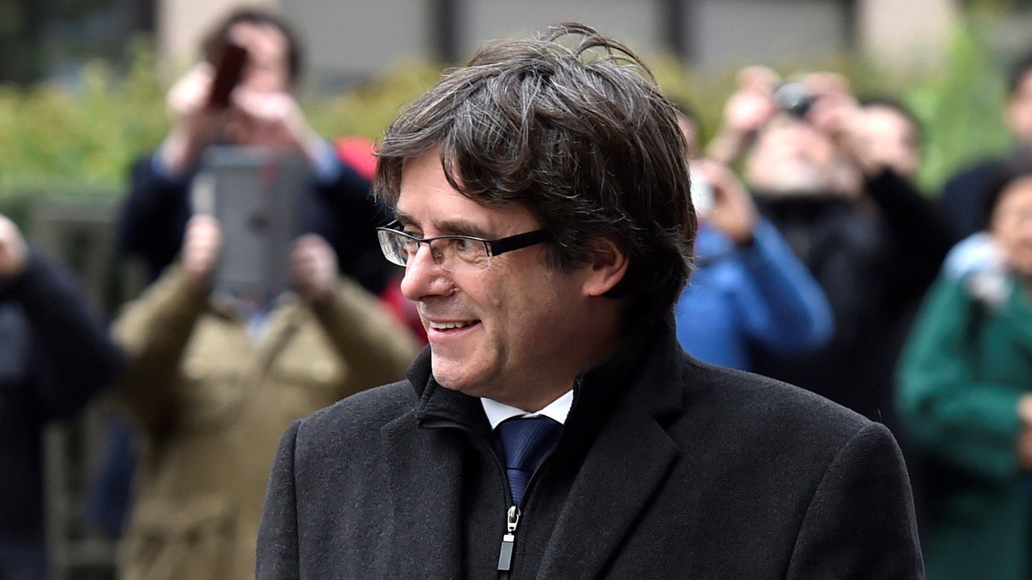 Catalan separatists seek to elect exiled Puigdemont as leader
