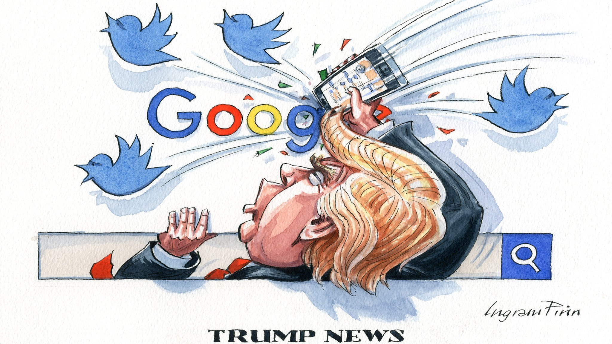 Image result for Trump's dangerous claim to the internet he wants