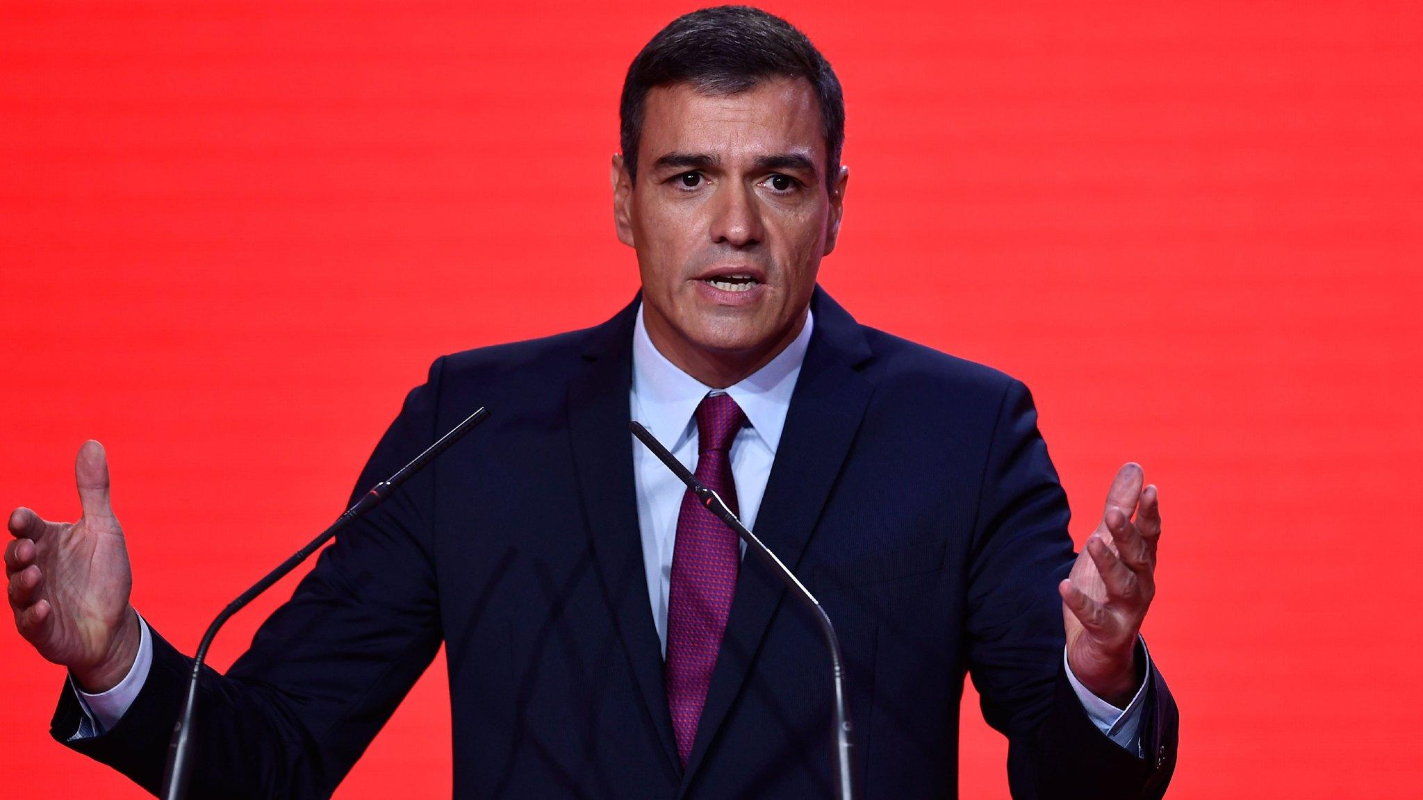 Image result for Socialist Prime Minister Pedro Sánchez