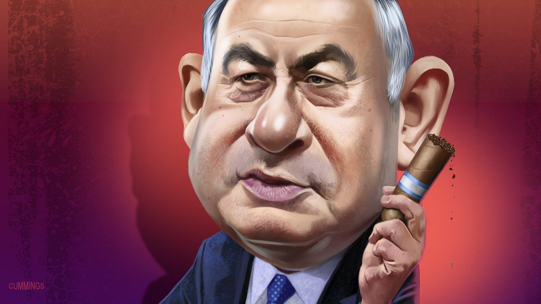 Afbeeldingsresultaat voor netanyahu the killer cartoon